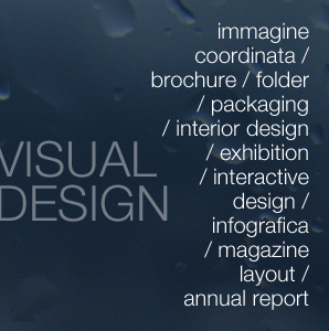 immagine coordinata / brochure / folder / packaging / interior design / exhibition / interactive design / infografica / magazine layout / annual report